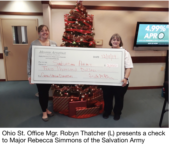MACU presents check to Salvation Army