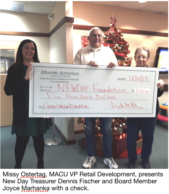 MACU presents check to NewDay