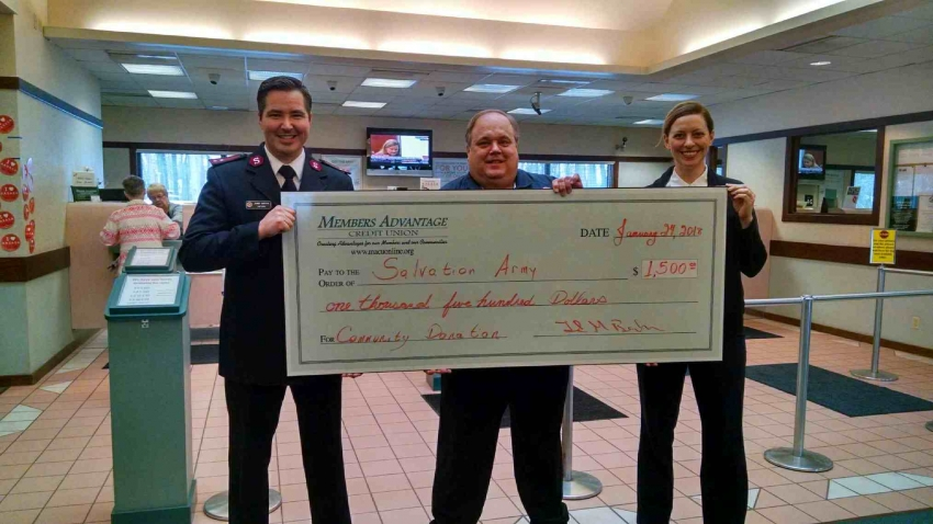 Members Advantage Credit Union donates $1,500 to Michigan City Salvation Army